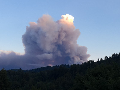 Two days later, a towering thunderhead of smoke signaled the beginning of the inferno in the Santa Cruz mountains (Portola Valley)