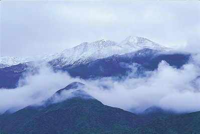 Snow-covered Chief Topa Topa
