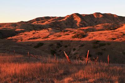 Montañon Ridge above Smuggler's Cove at sunrise