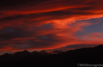 Sierra Wave over Middle Palisade Owens Valley