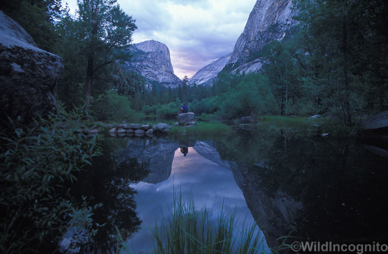Mirror Lake Reflection Self Portrait<br /> Yosemite National Park