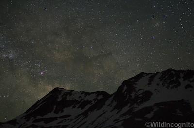 High Country Heavens above Mount Solomons John Muir Trail, Sierra Nevada