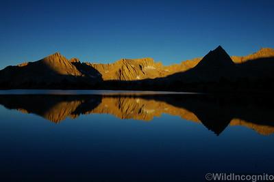 High Country Lake Reflection Sierra Nevada