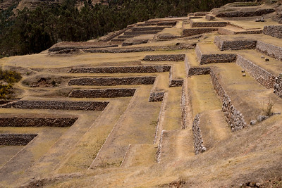 At Chinchero, beautiful Inca terraces are still preserved, if not currently used for their original agricultural purpose