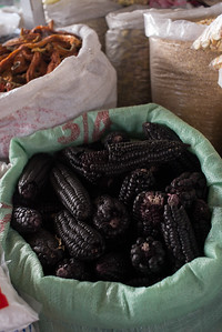 Black or purple corn, used to make drinks and desserts
