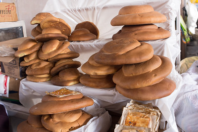 A little village outside Cusco specializes in baking bread, to be sold in the big city