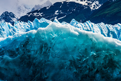 After ice joins the glacial flow, it is compressed under the weight of the whole mass, turning clear