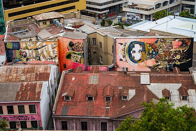 Street art is visible from nearly everywhere, and takes on as many styles as there are artists