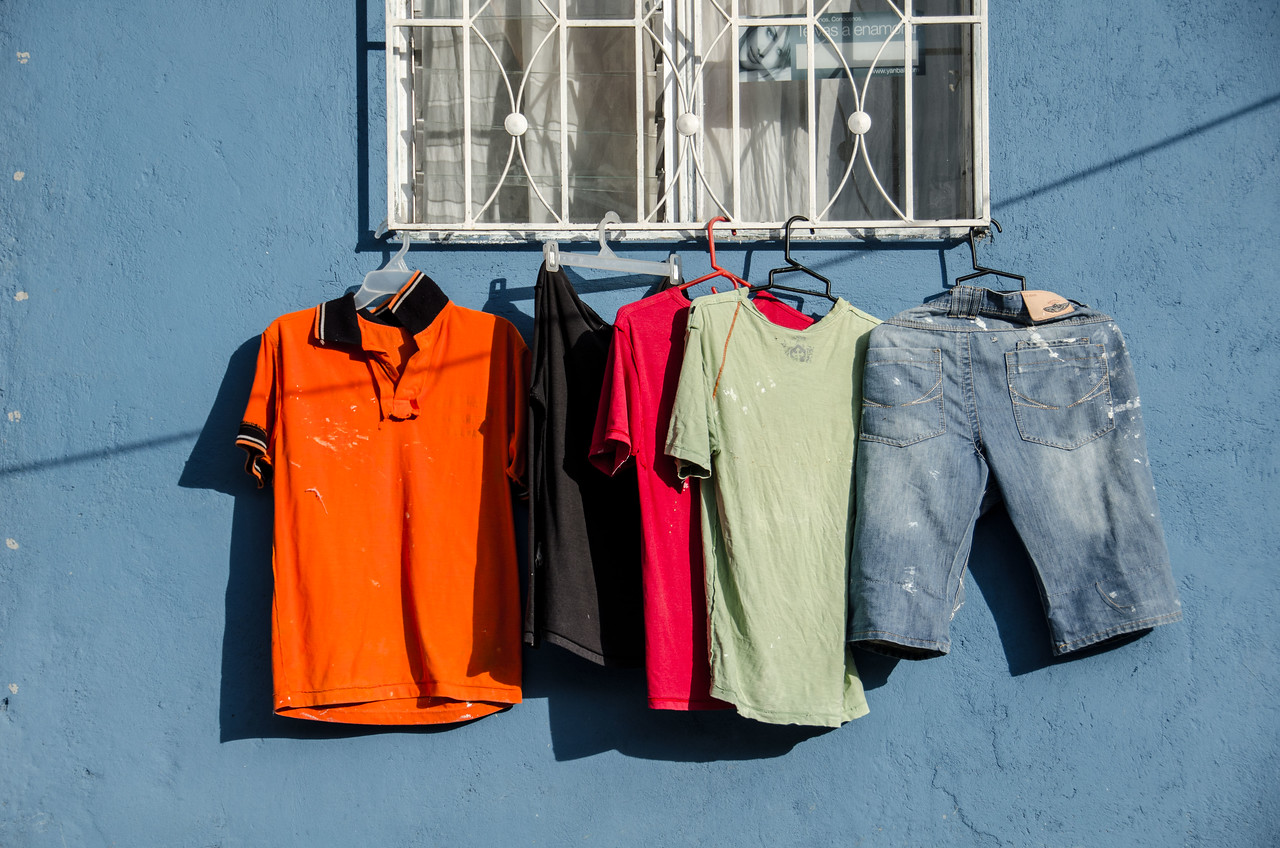 Drying clothes in the heat of Medellien