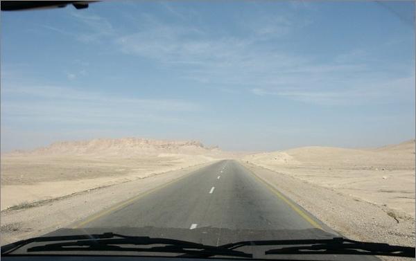 Palmyra - Homs road