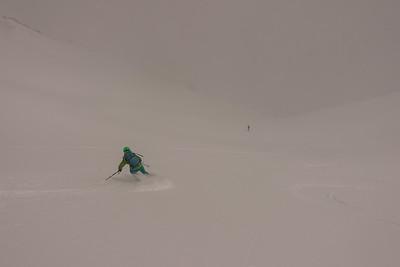 She says she can't ski...