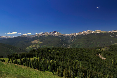 View from Ptarmigan Loop trail, Vail Mountain