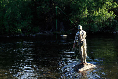 Fly fishing on the Eagle River
