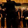Dartmouth Gospel Choir's Artistic Director Walt Cunningham takes the lead.