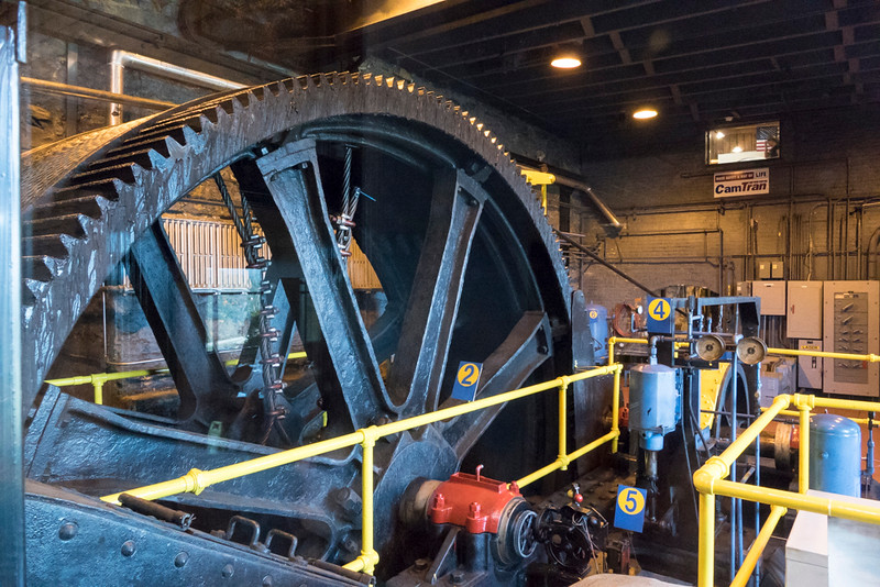 19th century motor and gears to pull the train up the incline.