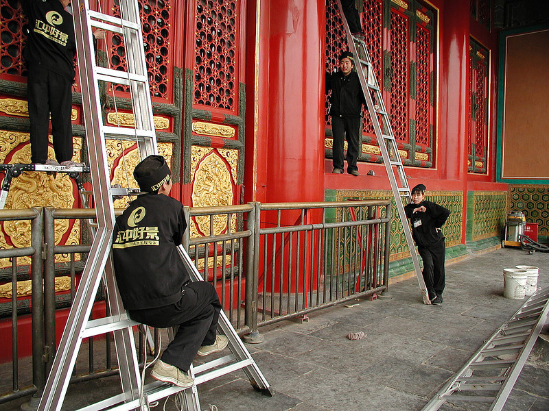 Forbidden City -- get-ready-for-the-Olympics restoration work