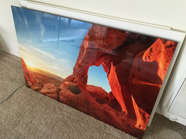 "Elephant Rock - 30x45"" metal display, ready to hang - $1500"