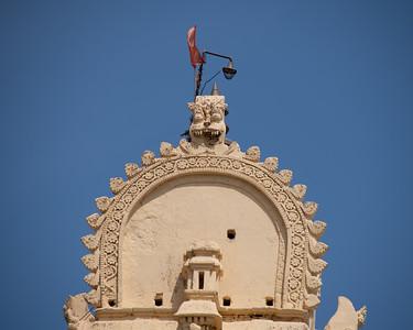 Highest portion of the gopuram.