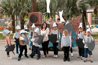"2206-JrOB-PreParadeHappenings Pre-parade getting ready, staging, happenings and entertainment featuring the Hip Hop Kidz dance group of the 64th Junior Orange Bowl ""Sailing to New Adventures!"" Parade on Dec. 30th, 2012. (Photo by MagicalPhotos.com / Mitchell Zachs)"