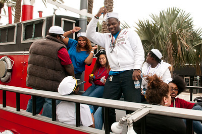 "2184-JrOB-PreParadeHappenings Pre-parade getting ready, staging, happenings and entertainment featuring the Hip Hop Kidz dance group of the 64th Junior Orange Bowl ""Sailing to New Adventures!"" Parade on Dec. 30th, 2012. (Photo by MagicalPhotos.com / Mitchell Zachs)"