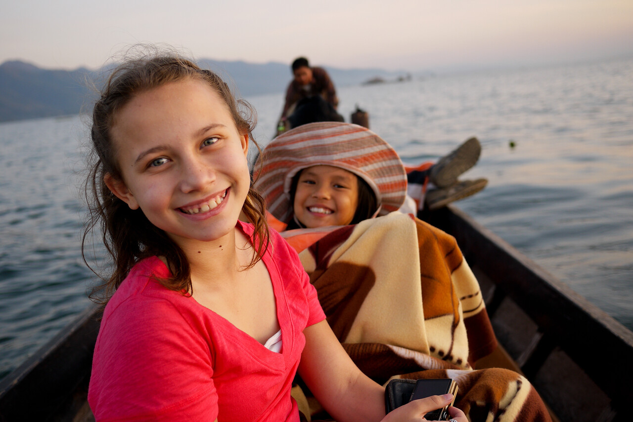 Ana and M at Inle Lake, Burma (Myanmar).