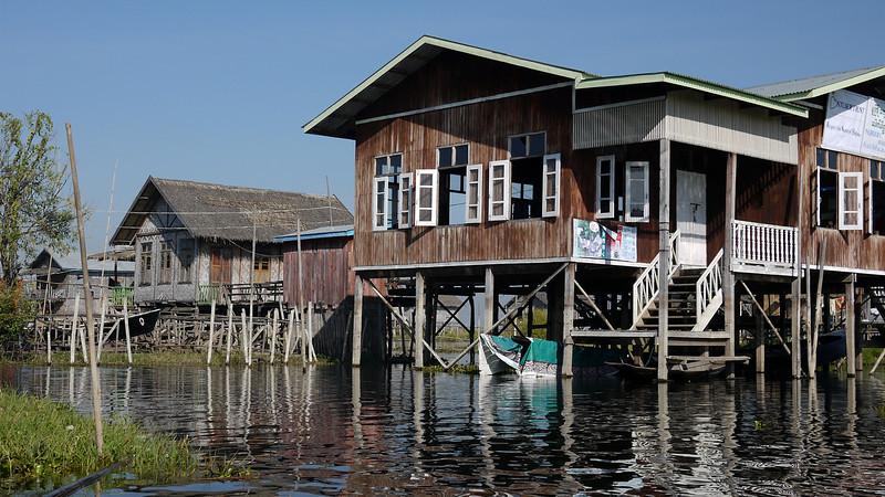Raised houses on Inle Lake, Burma (Myanmar).