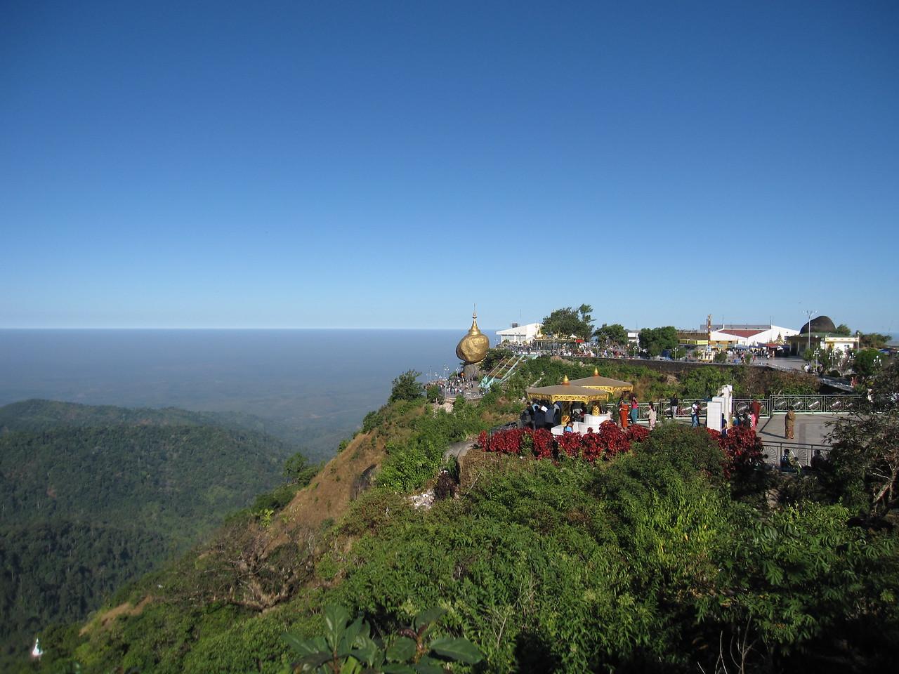 Mount Kyaiktiyo, the Golden Rock, in Burma.