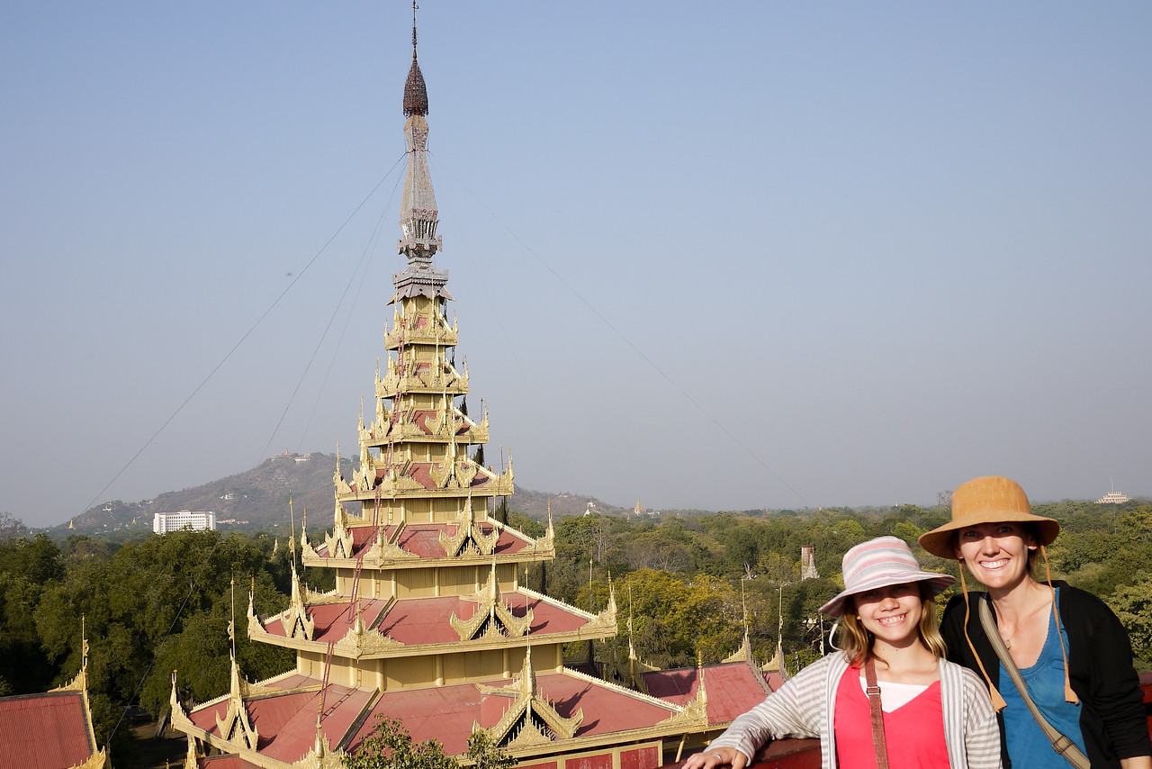 Palace in Mandalay, Burma.