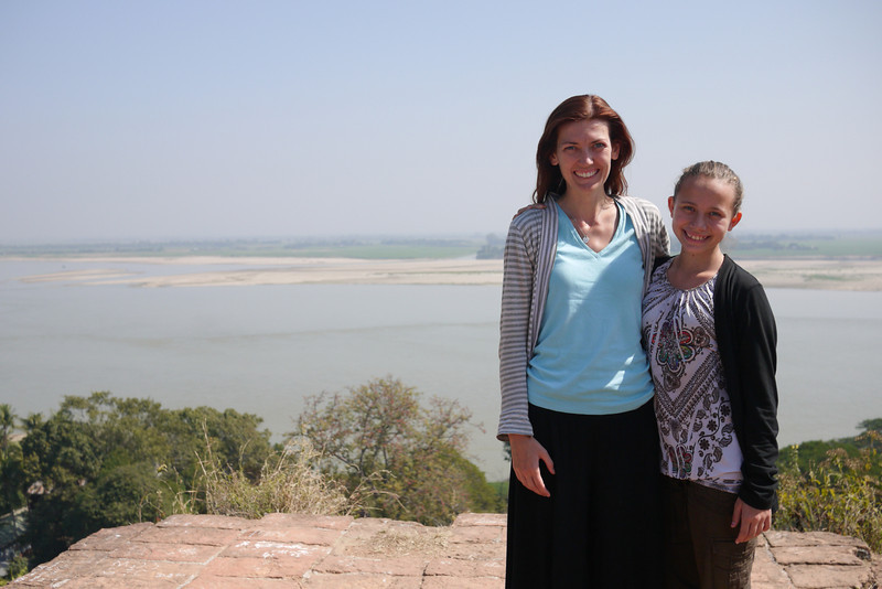 Overlooking Mingun and the Irrawaddy River.