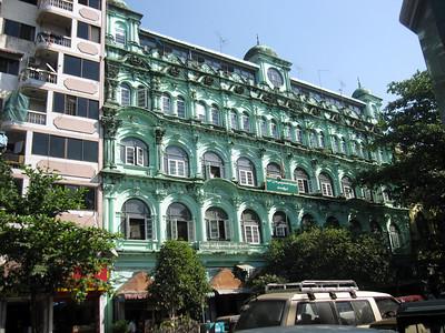 Pretty colonial buildings in Yangon, Myanmar (Burma)