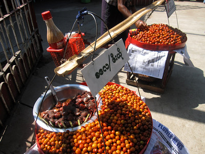 Sour plums for sale in Yangon, Myanmar (Burma)