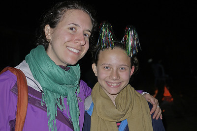 Ana and Eva welcome in the New Year in Maejantai village.