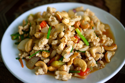 Chicken and cashew nut