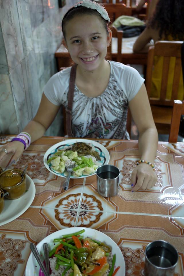 Ming Kwan vegetarian restaurant in Chaing Mai.
