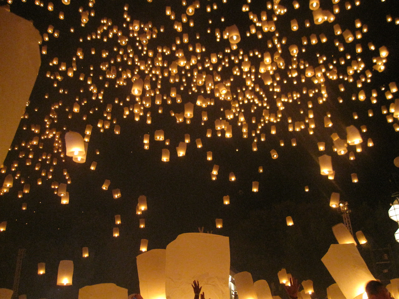 A constellation of lanterns.