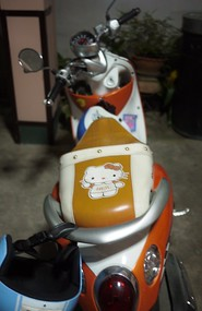 hello kitty motorbike