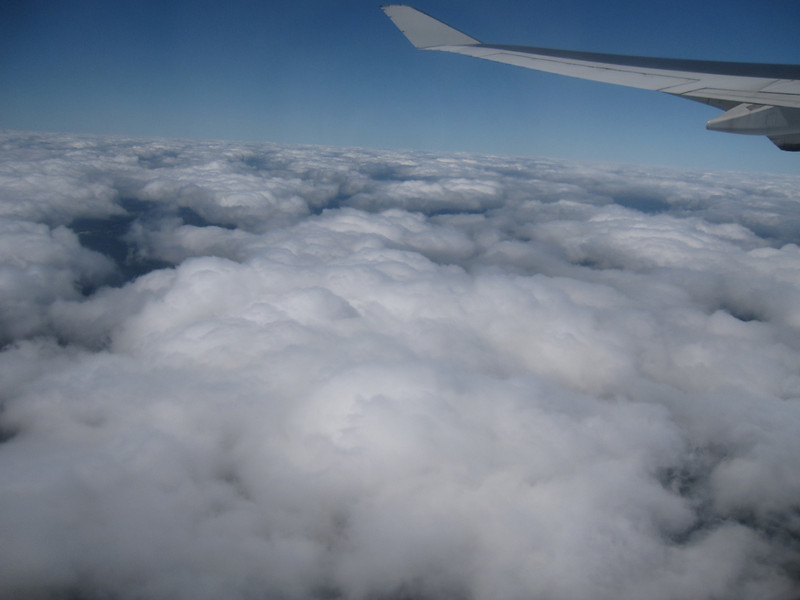 Clouds from the airplane window.