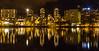 Stavanger's skyline by night. Sett fra Byparken og Breiavatnet