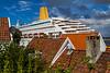Cruise-skip i Stavanger sentrum
