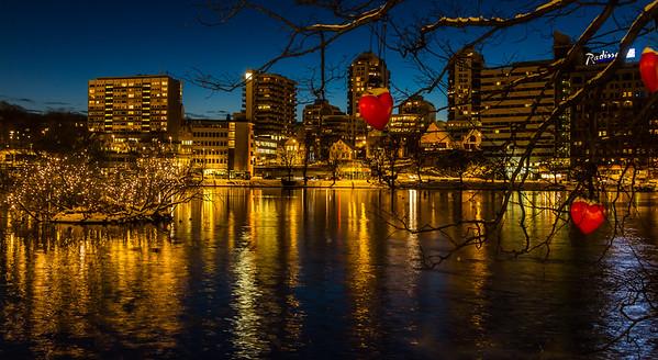 Breiavatnet i Stavanger pyntet til jul