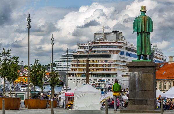 Kan ble trangt i Vågen i Stavanger