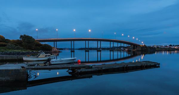 Natt over Hafrsfjord Bru, Stavanger - Sola