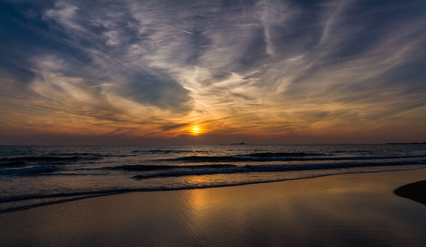 Solnedgang over Borestranda