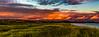 Gyllen solnedgang over Brusand, Hå kommune