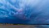 Dramatiske skyer over Solastranden