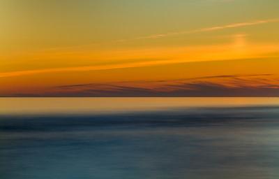 Fargerik solnedgang - Orrestranda