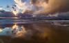 Solnedgang over Orre-stranden