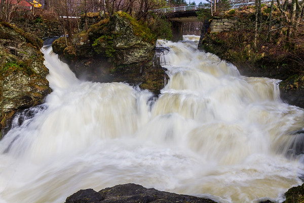 Fotlandsfossen ved Fotland Mølle