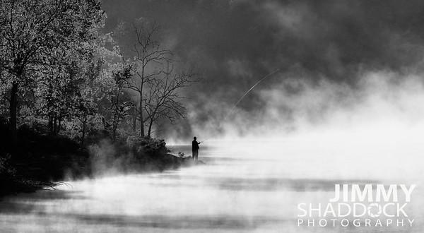 Fly Fishng At Table Rock Lake Branson Missouri