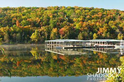 Boat Dock Reflection